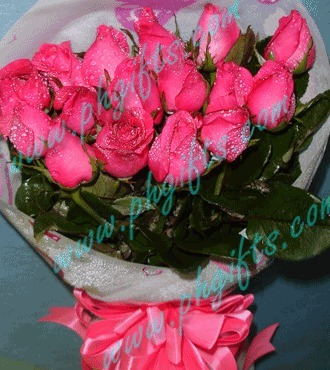 Send Pink Roses Bouquet Online Same Day Free Delivery to Philippines | Collection of flowers | Scoop.it