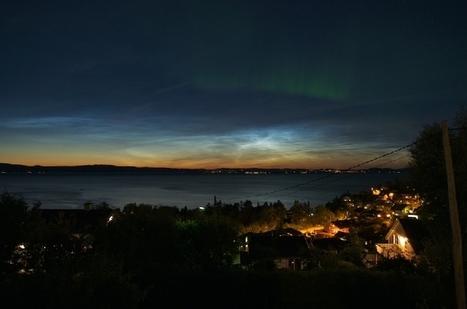 #aurore boréale ET nuages noctulescents à #Trondheim #Norvège le 15/08   Hurtigruten Arctique Antarctique   Scoop.it