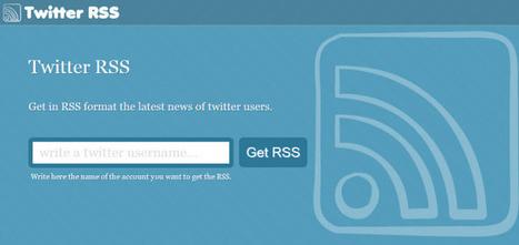 Volg een Twitter feed als RSS feed met Twitter RSS - Vakblog | Ter leering ende vermaeck | Scoop.it
