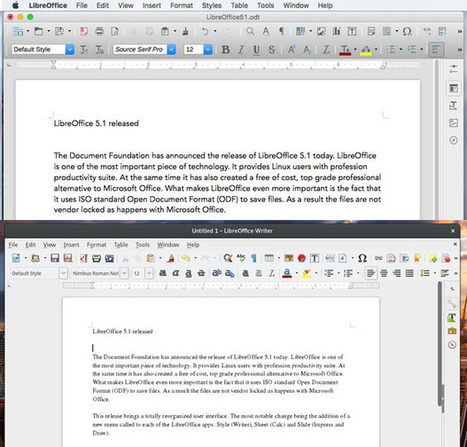 LibreOffice 5.1 shows first signs of a new user interface | TDF & LibreOffice | Scoop.it