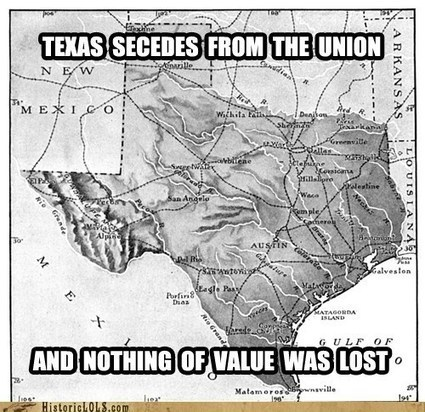 This Day in History: Texas Secedes from the Union - Historic LOL ... | Wahl World History | Scoop.it