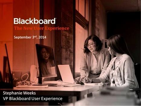The NEW Blackboard UX Webinar | EdTech Connection | Education Technology | Scoop.it