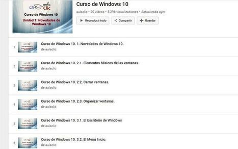 Curso de Windows 10 gratuito en 20 vídeos | Educacion, ecologia y TIC | Scoop.it