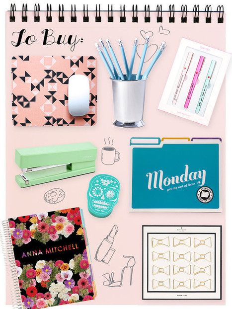 Stylish Office Supplies for Everybody Who Misses Back-to-School Shopping - E! Online | The Office | Scoop.it