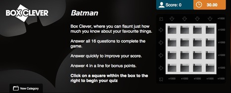 Batman Quiz | Box Clever | QuizFortune | Quiz Related Biz - Social Quizzing and Gaming | Scoop.it