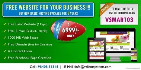 Web Design Company Chennai: Buy Our Basic Hosting Package For 3 years | Web Design Company In Chennai | Scoop.it