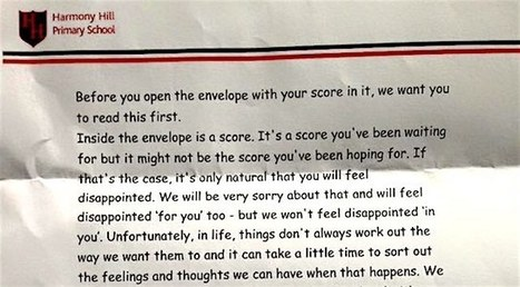 School Sends Inspiring Letter With Test Scores, So Kids Know What's Important - Good News Network | This Gives Me Hope | Scoop.it