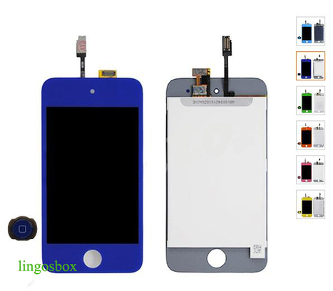New Genuine Dark Blue iPod Touch 4G Replacement LCD+Touch Screen Digitizer Assembly+Home Bottom | hot deals on lingosbox | Scoop.it