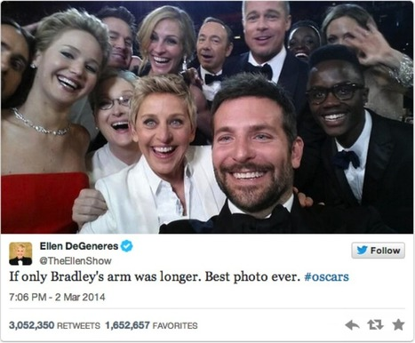 How this Famous Oscar Photobomb Defines Twitter for Marketers | Social Media, the 21st Century Digital Tool Kit | Scoop.it