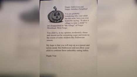 Woman Handing Out Letters, Not Halloween Candy | Kickin' Kickers | Scoop.it