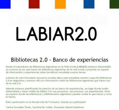 Bibliotecas 2.0 en Argentina: mapa y banco de experiencias - Infotecarios | Herramientas y Recursos Web 2.0 | Scoop.it