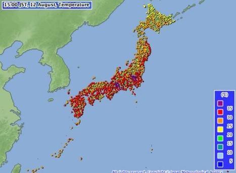 Japon: une vague de chaleur a fait au moins 36 morts depuis juillet |  Le Matin | Japon : séisme, tsunami & conséquences | Scoop.it