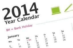 Blank Calendar 2014 - Holidays Celebration | Festival Holidays | Scoop.it