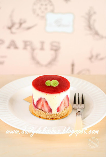 dailydelicious thai: Strawberry and white chocolate cheesecake: Cute little cake | white-chocolate-mocha-mousse-cake | Scoop.it