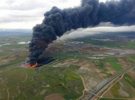 Un gran incendio en Seseña arrasa el mayor cementerio de neumáticos de España | Salvador Marco - Jefe de Taller | Scoop.it