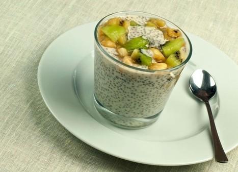 Pudding aux graines de chia, lait de coco, banane et kiwi | Curiosités planétaires | Scoop.it