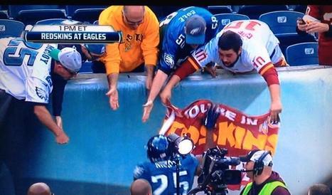 LeSean McCoy steals Redskins fans' banner   Fantasy Football   Scoop.it