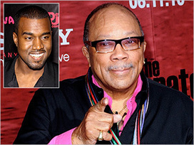 Quincy Jones on Kanye West: 'He's just a rapper' | EW.com | Sample Beat Productions | Scoop.it