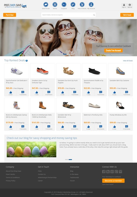 Post Shop Save USA Cashback Project Designed and Developed by iLead Digital | Affiliate Website CMS Design and Development | Scoop.it