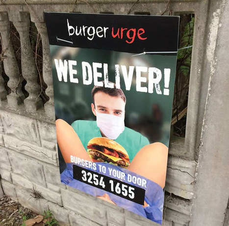 Burger Urge choque avec sa pub pour la livraison à domicile !   Publicité - Advertising   Scoop.it