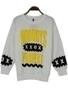 Punk Letters Print Sweatshirt - OASAP.com | Oasap street fashion | Scoop.it