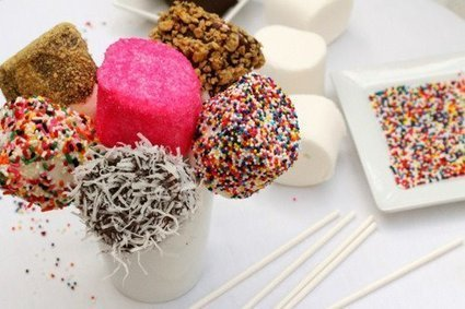 Coated marshmallow lollipops | Cakes & Bakes | Scoop.it