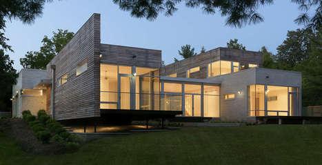 Impressionnante maison contemporaine l for Construction maison minimaliste