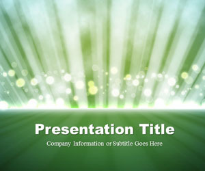 Light Rays Green PowerPoint Template | ftp | Scoop.it