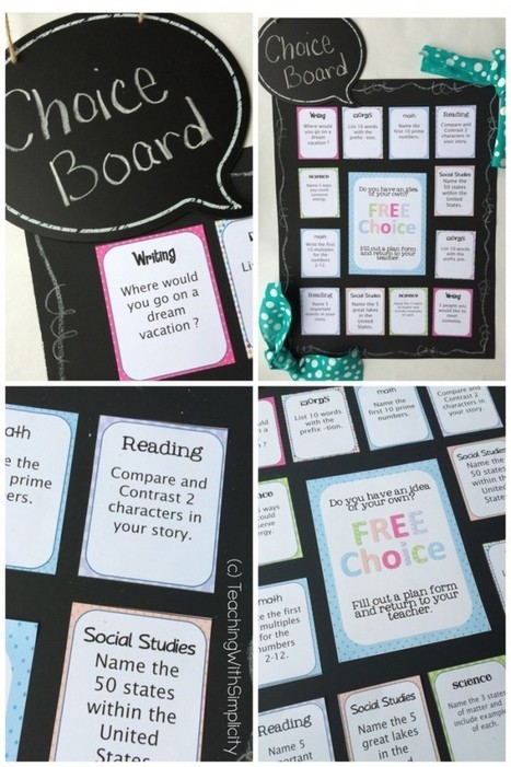 Choice Board | Cool School Ideas | Scoop.it