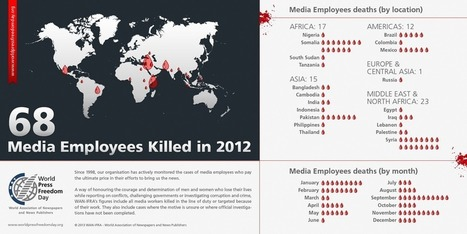 Journalists Killed 2012 Infographic - WAN-IFRA | Educommunication | Scoop.it