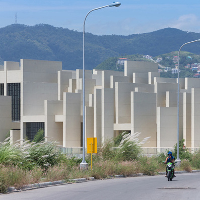 CAZA's 100 Walls Church is surrounded by staggered walls | The Architecture of the City | Scoop.it