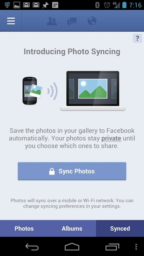 Facebook rolls out photo sync to Android and iPhone users | PCWorld | Mobile & Technology | Scoop.it