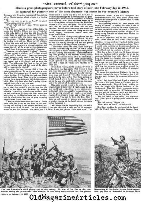 WW2 PHOTOGRAPHER JOE ROSENTHAL IWO JIMA 1945,WW2 PHOTOGRAPHER JOE ROSENTHAL AMERICAN FLAG ON MOUNT SURIBACHI PHOTOGRAPH,WW2 STORY BEHIND AMERICAN FLAG ON MOUNT SURIBACHI PICTURE,1955 JOE ROSENTHAL ... | Battle of Iwo Jima | Scoop.it