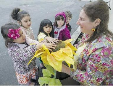 Sunflower Lady plants seeds of contentment | Our Collective Good | Scoop.it