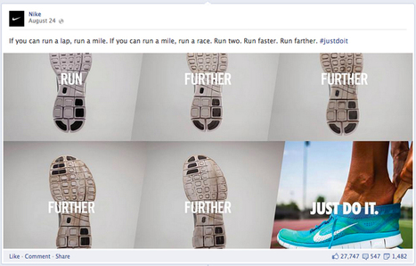 Social Media Content Calendar Inspiration: Nike Facebook Story Telling | Marketing in English with Tuyo Isaza | Scoop.it