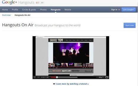 Hangouts On Air, nueva opción que permite usar los Hangouts de Google+ para crear tu canal de vídeo en vivo | #CentroTransmediático en Ágoras Digitales | Scoop.it
