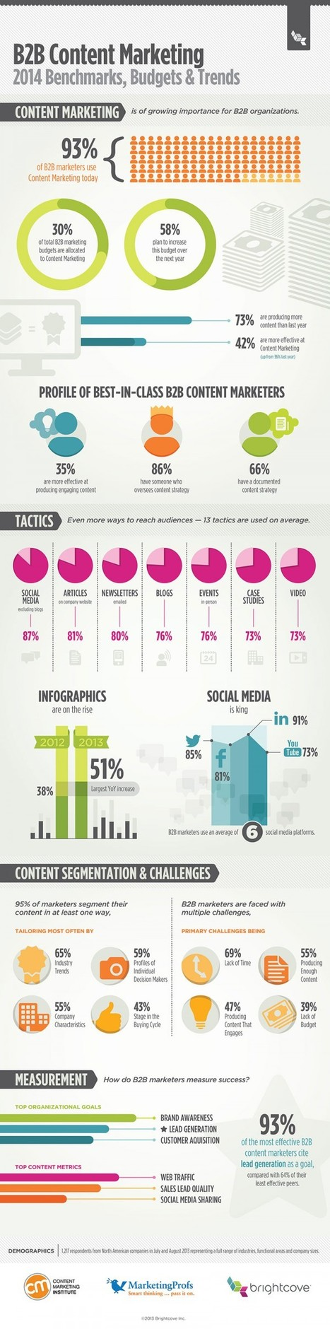 B2B Content Marketing in 2014 [Infographic] | Content Marketing and Curation for Small Business | Scoop.it