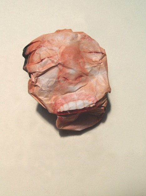 Crushed paper portraits by Lo Siento Studio, Barcelona | Art for art's sake... | Scoop.it