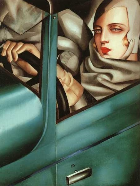 "Tamara de Lempicka ""Self Portrait (Tamara in the Green Bugatti)"" 