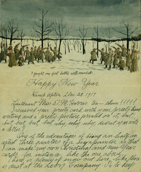 A Soldier's Illustrated New Year's Letter | histoire | Scoop.it