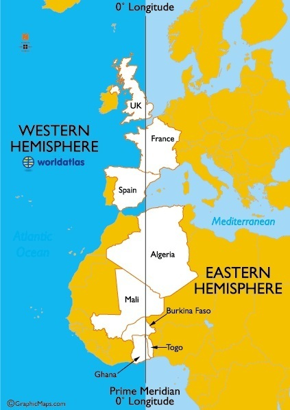 Countries in multiple hemispheres | AP Human Geography Education | Scoop.it