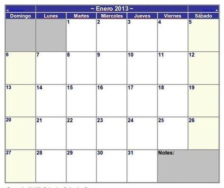 Colección calendario 2013 para imprimir | yo jnhdfosijd | Scoop.it