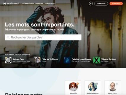 Musixmatch, n'oubliez pas les paroles ! | Autour du Web | Art et Culture, musique, cinéma, littérature, mode, sport, danse | Scoop.it
