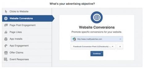 Facebook Simplifie son Offre Publicitaire avec les Objectifs Marketing | Emarketinglicious | CM | Scoop.it