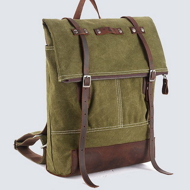 Roll top washed canvas camper rucksacks pack for womens from Vintage rugged canvas bags | personalized canvas messenger bags and backpack | Scoop.it
