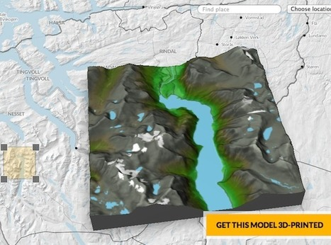 Geo Nerd Alert: Norwegian 3D Printed Terrain Maps - Shapeways Blog on 3D Printing News & Innovation | e-merging Knowledge | Scoop.it