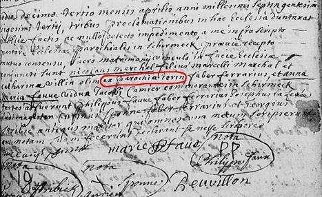 Quelle est la paroisse d'origine de Nicolas Marchal ? | Rhit Genealogie | Scoop.it