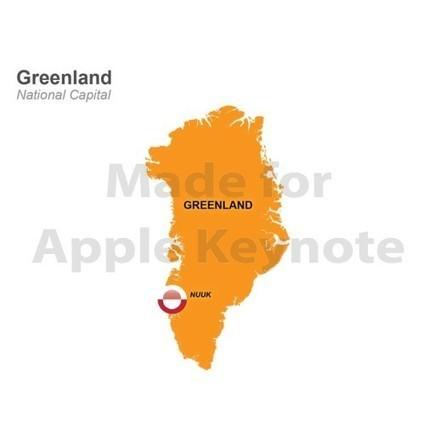 Greenland Map - Download Editable Keynote Mac | Apple Keynote Slides For Sale | Scoop.it