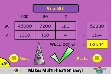 Grid Guru: Grid Multiplication Math App - Fun Educational Apps: Best Apps for Kids Reviews iPad / iPhone / iPod   iPads 1-to-1 in the Elementary Classroom   Scoop.it