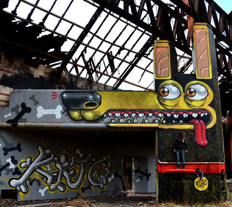 The Maniacal Street Art of Mr. Thoms #art #streetart #painting #murals #publicart | Luby Art | Scoop.it